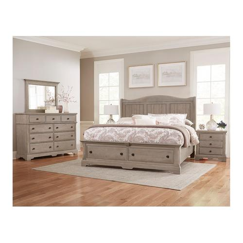 Gallery - Sleigh Bed with Storage Footboard