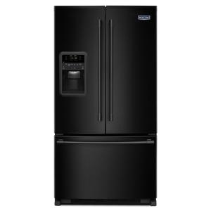 33- Inch Wide French Door Refrigerator with Beverage Chiller Compartment - 22 Cu. Ft. - BLACK