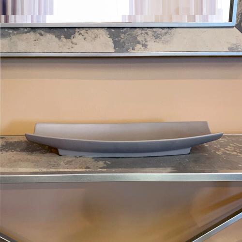 Howard Elliott - Matte Gray Ceramic Canoe Tray