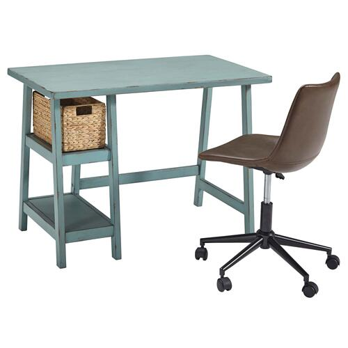 Mirimyn Home Office Small Desk Multi