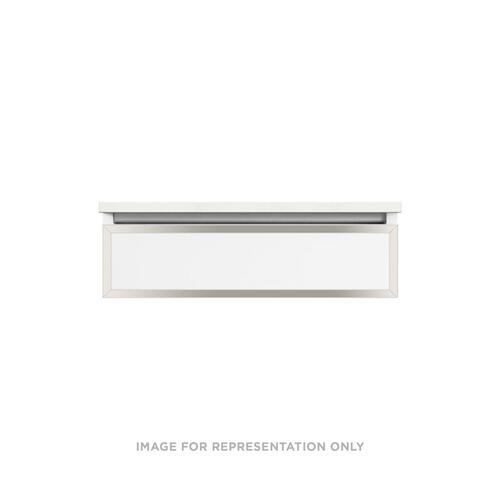 """Profiles 30-1/8"""" X 7-1/2"""" X 21-3/4"""" Modular Vanity In White With Polished Nickel Finish, Slow-close Plumbing Drawer and Selectable Night Light In 2700k/4000k Color Temperature (warm/cool Light)"""