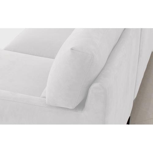 VIG Furniture - Divani Casa Paraiso - Modern White Fabric Right Facing Sectional Sofa