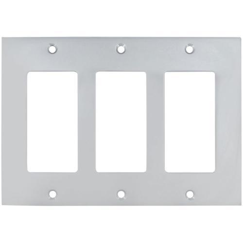 Triple Rocker Modern Switchplate in (US26D Satin Chrome Plated)