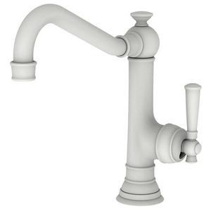 Matte White Single Handle Kitchen Faucet