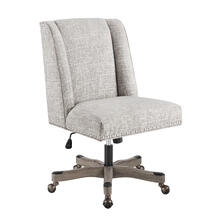 Draper Office Chair Silver
