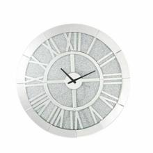 ACME Nowles Wall Clock - 97724 - Glam - Mirror, Glass, MDF, Faux Diamonds (Acrylic) - Mirrored