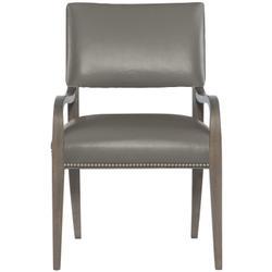Moore Leather Arm Chair in Portobello Finishes Available Cocoa (CN1) Portobello (PN1) Smoke (SN1) Nailhead Finish Shown #13 Bright Nickel
