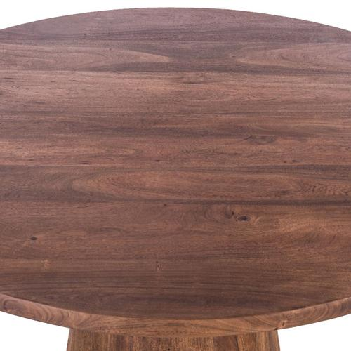 """Industrial Modern 54"""" Round Dining Table Tawny Brown"""