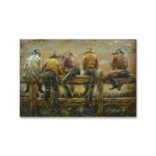 Cowboy Corral 32x48 Metal Wall Art