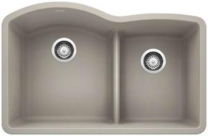 Diamond 1-3/4 Bowl With Low Divide - Concrete Gray Product Image