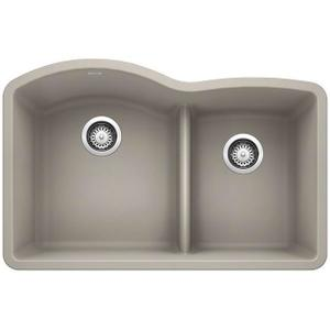 Diamond 1-3/4 Bowl With Low Divide - Concrete Gray