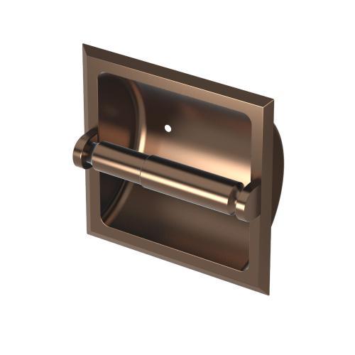 Recessed Tissue Holder in Bronze