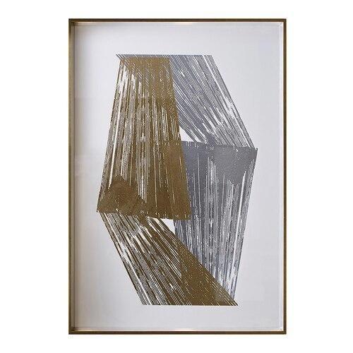 Bassett Furniture - Gold and Silver Stripes I