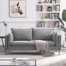 View Product - Divani Casa Randolf - Modern Grey Fabric Sofa