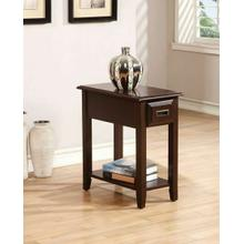ACME Flin Side Table - 80518 - Dark Cherry
