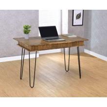 See Details - Sheeran Rustic Amber Writing Desk
