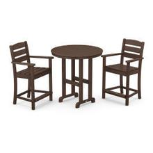 View Product - Lakeside 3-Piece Round Counter Arm Chair Set in Mahogany