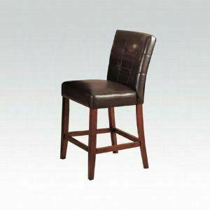 ACME Bologna Counter Height Chair (Set-2) - 07242 - Espresso PU & Brown Cherry