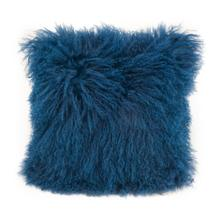 See Details - Lamb Fur Pillow Blue
