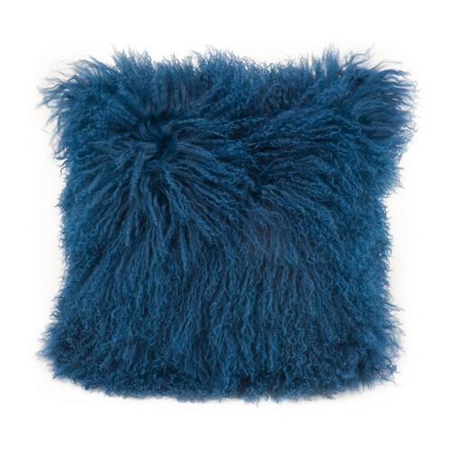 Moe's Home Collection - Lamb Fur Pillow Blue