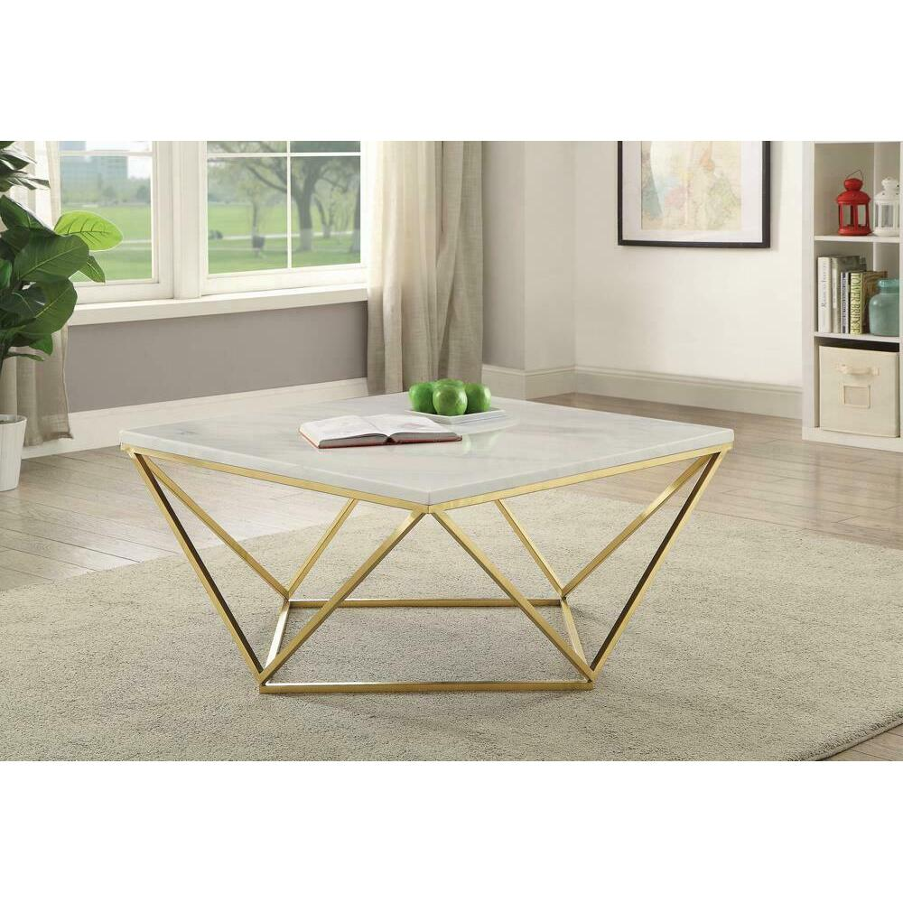 See Details - Modern White Coffee Table