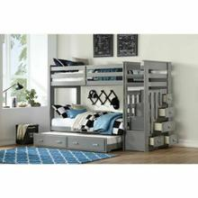 ACME Allentown Bunk Bed & Trundle (Twin/Twin & Storage) - 37870 - Gray