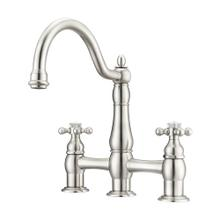 Cobar Lavatory Bridge Faucet - Brushed Nickel