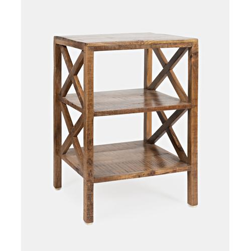 Dylan X Side Accent Table - Amber