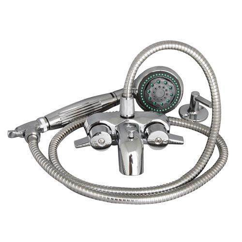 Clawfoot Tub Filler - Wall Mounted Faucet with 5 Function Hand Shower