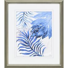 Blue Fern and Leaf II
