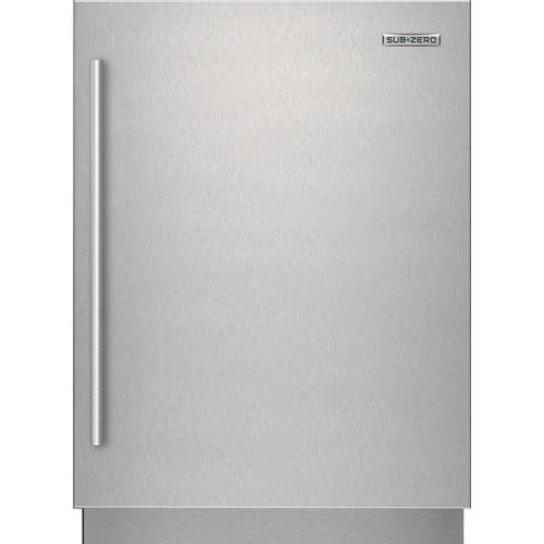 Sub-Zero - Stainless Steel Solid Door Panel - Tubular Handle, Right Hinge