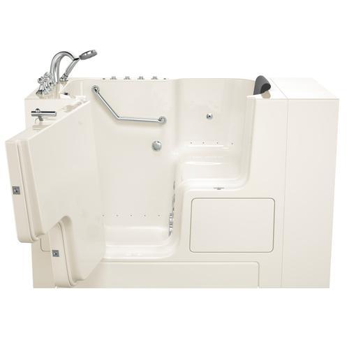 Gelcoat Premium Series 32x52 Outward Opening Door Combo Massage Walk-in Tub, Left Drain  American Standard - Linen