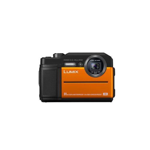 LUMIX TS7 Waterproof Tough Camera, 20.4 Megapixels, 4.6X Zoom Lens - ORANGE - DC-TS7D