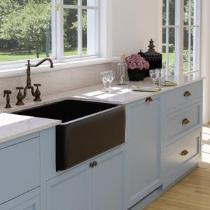 "Acantha Single Bowl Granite Farmer Sink - Polished Blue Gray / 36"" Product Image"