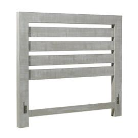5/0 Queen Slat Headboard - Gray Chalk Finish