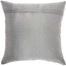 "Couture Luster E5500 Silver 20"" X 20"" Throw Pillow"