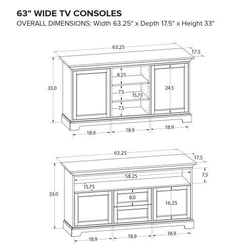 Howard Miller Custom TV Console TS63P