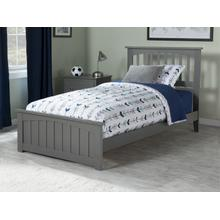 Mission Twin Bed with Matching Foot Board in Atlantic Grey
