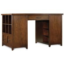 View Product - Home Office Wendover Utility Desk (One Drawer Pedestal and One Bookcase Pedestal)