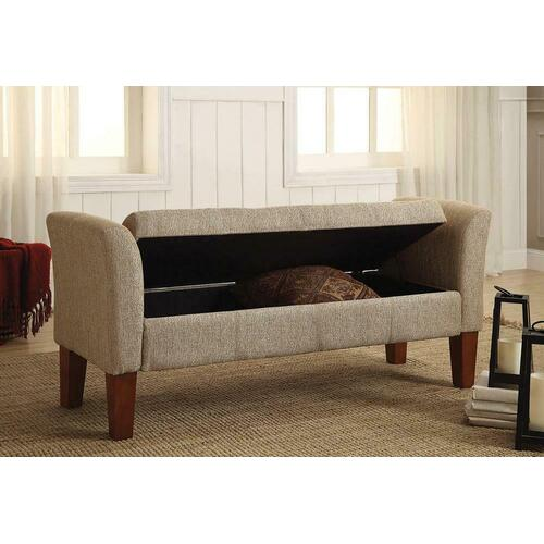 Classic Tan Storage Bench