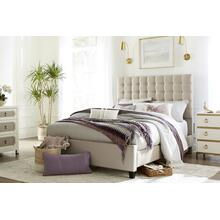 Bergen King Bed, Sandstone Linen