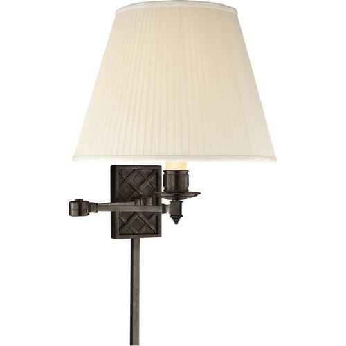 Alexa Hampton Gene 20 inch 100 watt Gun Metal Swing-Arm Wall Light