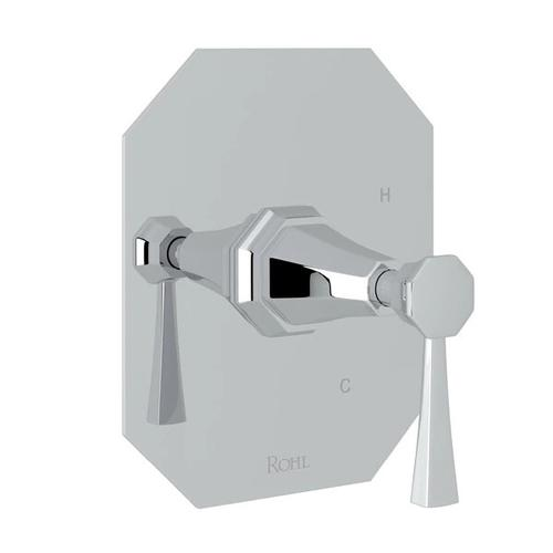 Deco Pressure Balance Trim without Diverter - Polished Chrome with Lever Handle