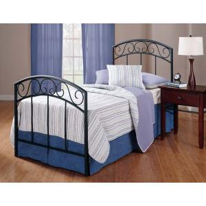 Wendell Twin Duo Panel Bed Set Textured Black - Must Order 2 Panels for Complete Bed Set