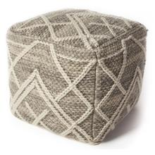 "Pouf F861 Grey Crossways 18"" X 18"""