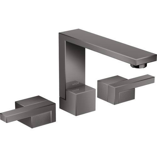 AXOR - Polished Black Chrome Widespread Faucet 130 - Diamond Cut, 1.2 GPM