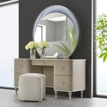 Vanity Desk Mirror & Stool 3 PC