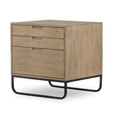 See Details - Burton Filing Cabinet-aged Drift Oak