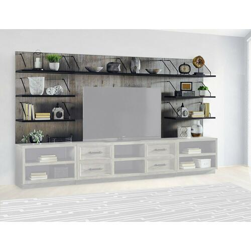 BILLBOARD Center & Pier backpanels with shelves