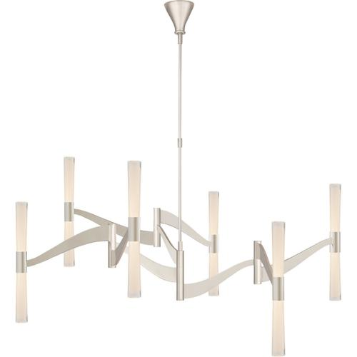 AERIN Brenta LED 54 inch Polished Nickel Chandelier Ceiling Light, Grande
